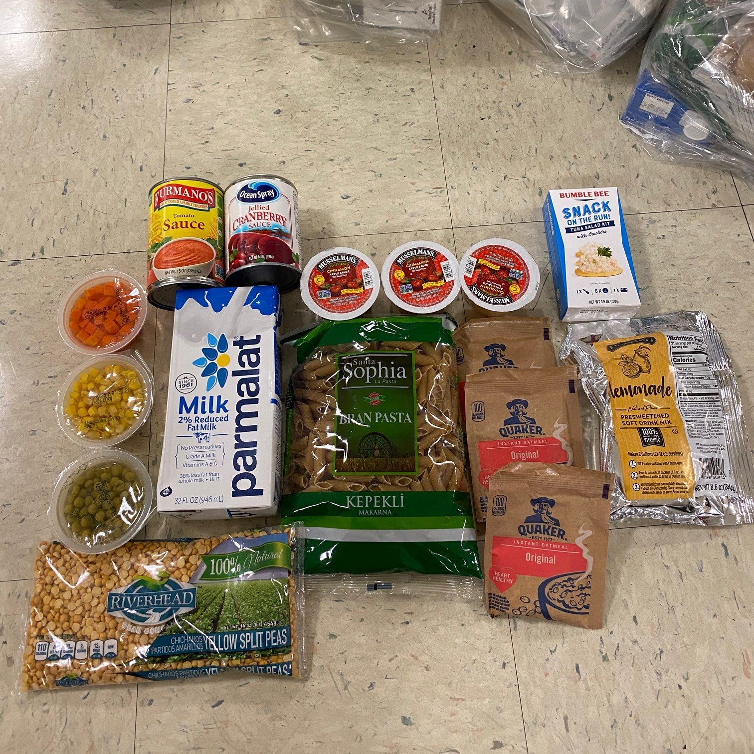Donated by Andromeda Advantage, these generous food supplies will be distributed to SACHR participants facing food insecurity.